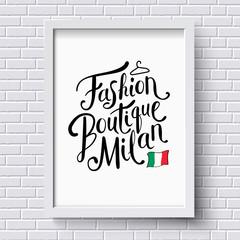 Fashion Boutique Milan Concept on a Frame