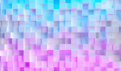 neon uv blue and purple futuristic cube light surface pattern