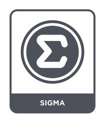 sigma icon vector