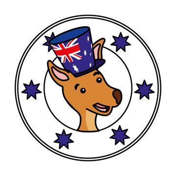 kangaroo hat australian flag emblem