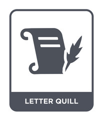 letter quill icon vector