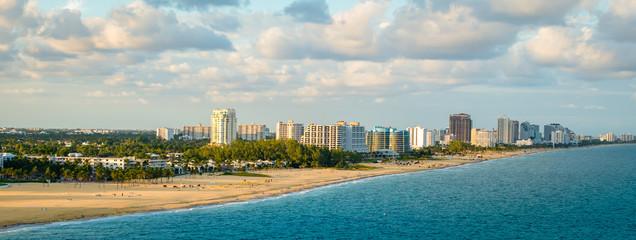 Panoramic view of Fort Lauderdale beach, Florida Wall mural
