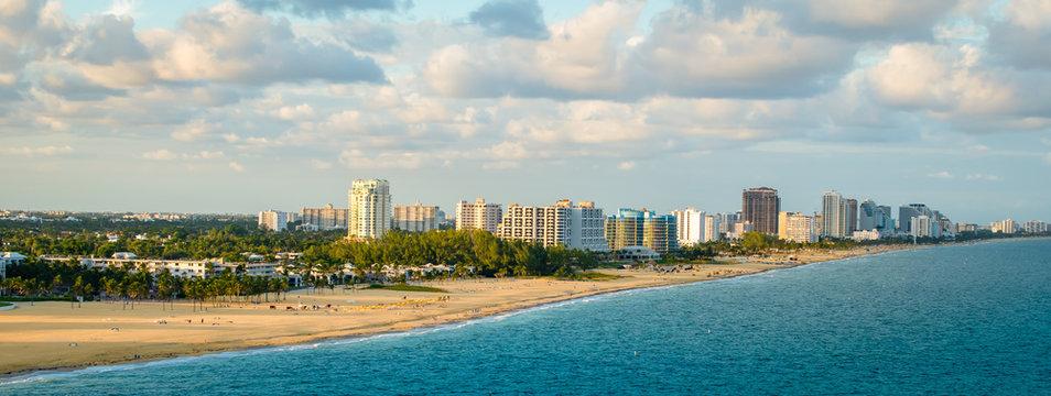 Panoramic view of Fort Lauderdale beach, Florida