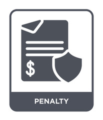 penalty icon vector