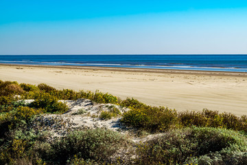 Tuinposter Kust Gulf of Mexico beach at Galveston, Texas near the San Luis Pass
