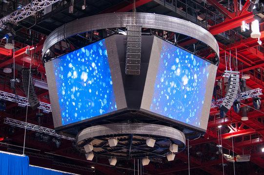 Hockey stadium screen