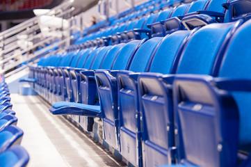 empty seats at the hockey stadium Fotobehang