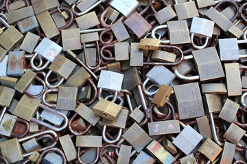 padlock pile