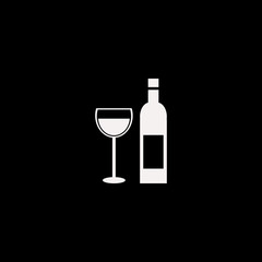 Bottle Glass vector icon. flat Bottle Glass design. Bottle Glass illustration for graphic