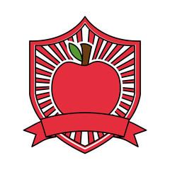 apple fresh healthy food emblem