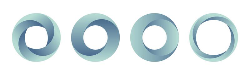 Set of gradient logos templates.