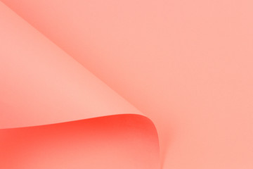 Abstract geometric shape coral color paper background