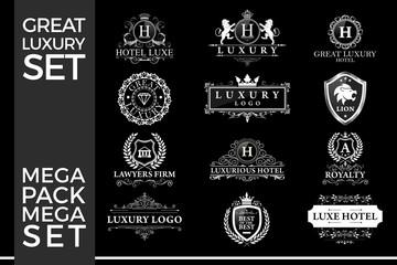 Great Luxury Set, Royal and Elegant Logo Template Vector Design Eps 10