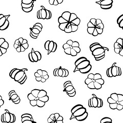 Thanksgiving day seamless pattern in hand drawn style