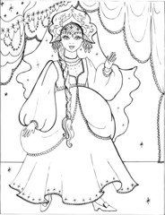 Coloring book for children. Beautiful little princess 31