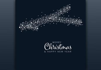 Minimalist Christmas Card Layout