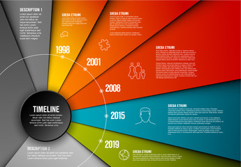 Circular Timeline Infographic Layout