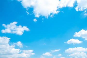 Beautiful blue sky clouds for background.