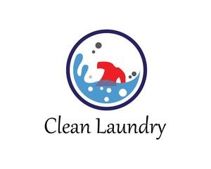 Laundry logo vector icon