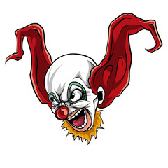 face evil killer clown