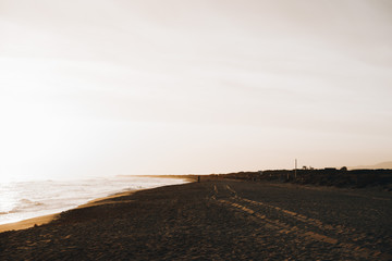 Sunset landscape in California