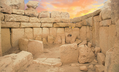 neolithic temples of Hagar Qim Wall mural