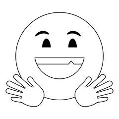 Chat emoji emoticon in black and white