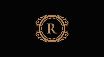 Luxury Logo template in vector for Restaurant, Royalty, Boutique, Cafe, Hotel, Heraldic, Jewelry, Fashion
