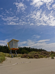 Lifeguard station at Woodend Beach, New Zealand