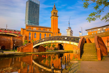Castlefield - inner city conservation area in Manchester, UK
