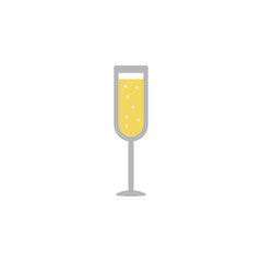 Alcohol, champagne, glass, Christmas 2 colored line icon. Simple hand drawn color element illustration. Alcohol, champagne, glass, Christmas outline symbol design from Christmas set