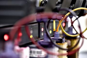 Fototapeta Sublimacja oraz proces sublimacji, maszyna do druku sublimacyjnego obraz