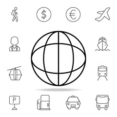 Earth icon. Element of simple icon for websites, web design, mobile app, info graphics. Thin line icon for website design and development, app development on white background