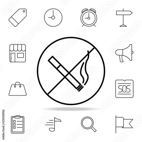 Smoking Ban Icon Element Of Simple Icon For Websites Web Design