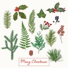 Cute Christmas hand drawn decoration