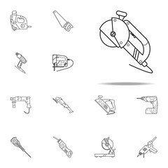 Grinder icon. Home repair tool icons universal set for web and mobile