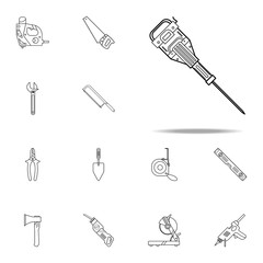 juckhammer icon. Home repair tool icons universal set for web and mobile