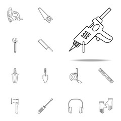 Silicone Electra Pistol icon. Home repair tool icons universal set for web and mobile