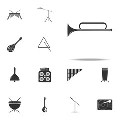 musical instrument trumpet icon. Music Instruments icons universal set for web and mobile