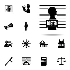 photo of the criminal icon. Police icons universal set for web and mobile