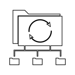 network workflow icon. Element of cyber security for mobile concept and web apps icon. Thin line icon for website design and development, app development