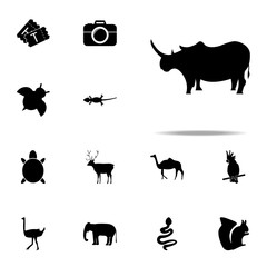 silhouette of a rhinoceros icon. zoo icons universal set for web and mobile
