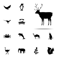 silhouette of a deer icon. zoo icons universal set for web and mobile