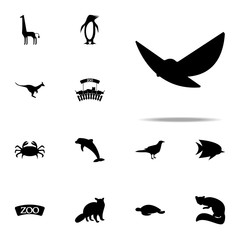silhouette of a bird icon. zoo icons universal set for web and mobile