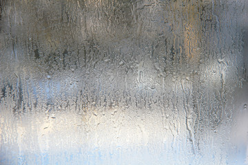 Texture of frosted glass. Abstract textured winter background.