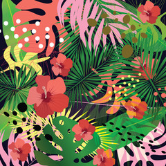 abstract and decorative tropical pattern