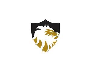 Lion king icon logo template vector