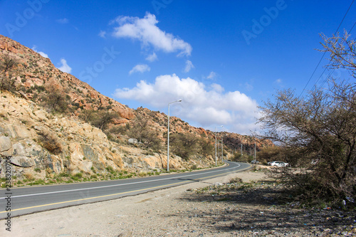 Mountain with landscape in Taif Saudi Arabia