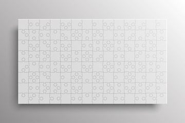 White Pieces Puzzle Banner Jigsaw Banner Frame.