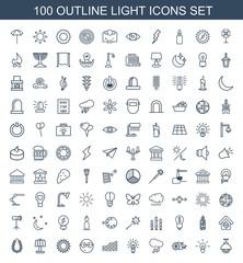 100 light icons